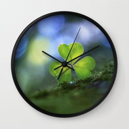Lonely Wood Sorrel Wall Clock