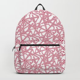 Candy cane flower pattern 5 Backpack