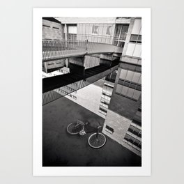 Bicycle under Glass Art Print