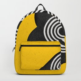 Ampersand black and white and yellow 3D typography design minimalist home decor wall decor Backpack
