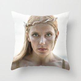 Portrait of a Mermaid Throw Pillow