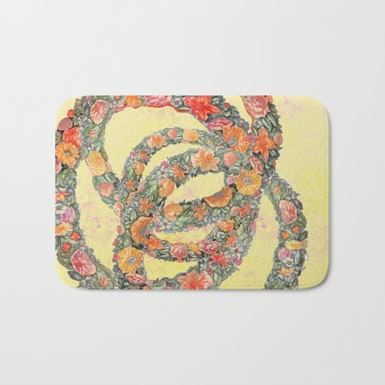 The consolation in a flower Bath Mat