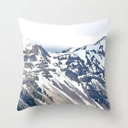 SNOW COVERED PEAKS AROUND CRATER LAKE Throw Pillow