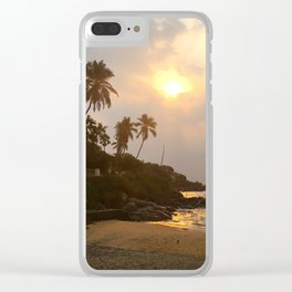 Kovalam Beach Sunset Clear iPhone Case