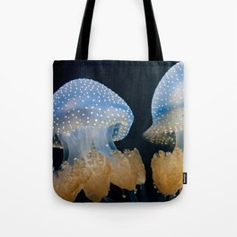 Double Blue Jellyfish - Underwater Photography Tote Bag