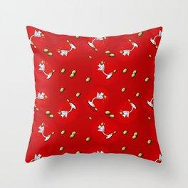 KiniArt Westie Martini Throw Pillow