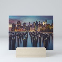 Brooklyn Blue Hour, New York City Mini Art Print