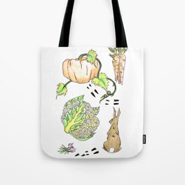 Bunny in The Veg Patch Tote Bag