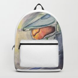 Halo gaming watercolor design Backpack