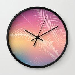 Gradient Tropical leaves Wall Clock