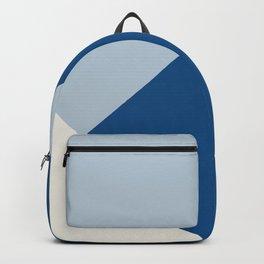 Baby Blue meets Classic Blue & Coconut Milk Geometric #1 #minimal #decor #art #society6 Backpack