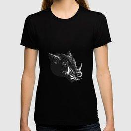 Razorback Wild Boar Scratchboard T-shirt