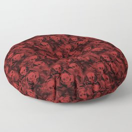 Haunted Red Skulls Floor Pillow
