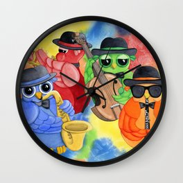 Jazz Owls Wall Clock