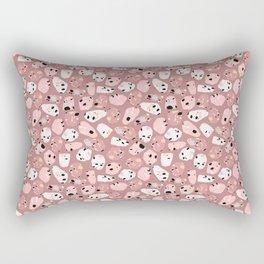 rose terrazzo Rectangular Pillow