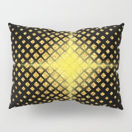 Art Deco Avant-garde Starburst Diamond Pattern Pillow Sham