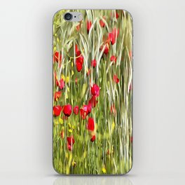 Red Corn Poppies iPhone Skin