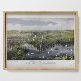 The City of Baltimore by Currier & Ives (1880) Serving Tray
