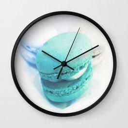 Macarons / Macaroons Teal Wall Clock