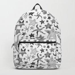 Grey Starfish Pattern - Dark Backpack