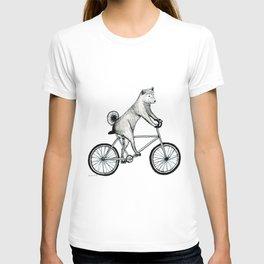 Shiba Inu Riding a Bicycle T-shirt