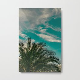 Palms on Turquoise - II Metal Print