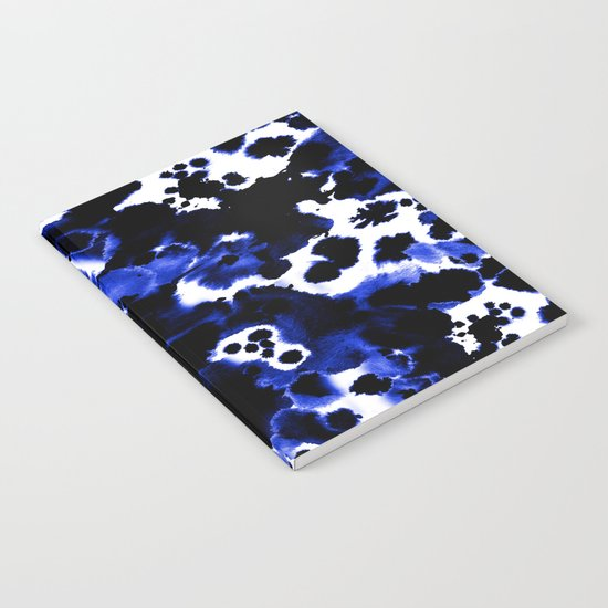 Watercolor indigo india ink boho girly trendy abstract painting brushstrokes dorm college painterly Notebook