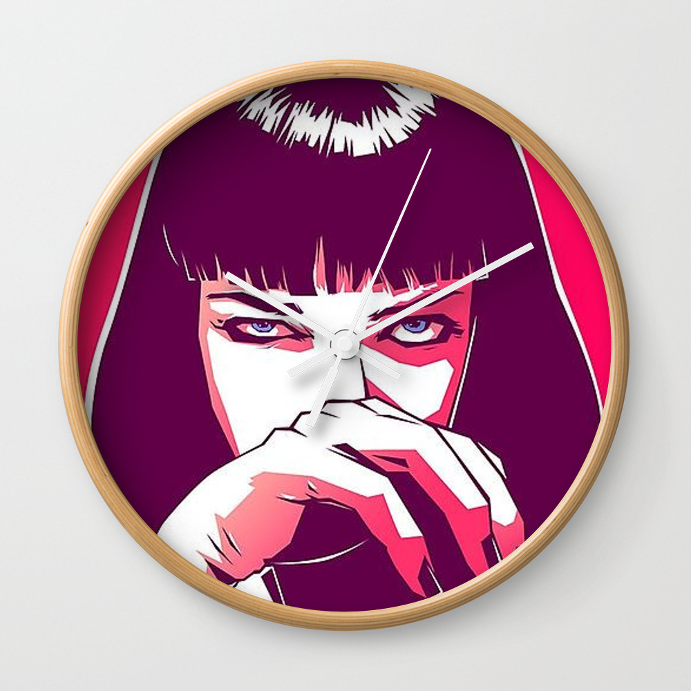 Pulp Fiction Mia Wallace Wall Clock by Prodesigner2 CLK8670977