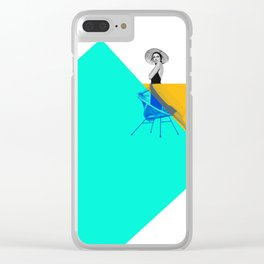 Grace and the Square Clear iPhone Case