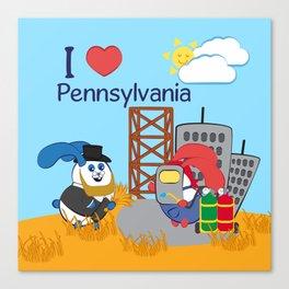 Ernest and Coraline | I love Pennsylvania Canvas Print