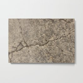 Cracked concrete path Metal Print