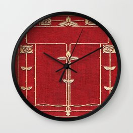 Red Rose Vines Wall Clock