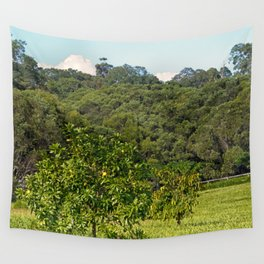 Beautiful citrus tree in rural area Wall Tapestry