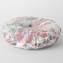 Arlington map Virginia Floor Pillow