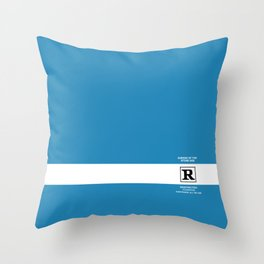 Rated R Throw Pillow