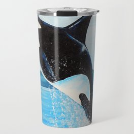 Orca Painting Travel Mug