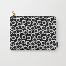 Googly eye pattern – black Carry-All Pouch