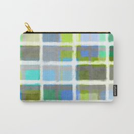 Rectangles in Blues and Greens Carry-All Pouch