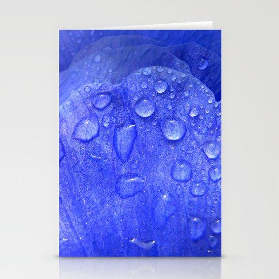 blue petal drops I Stationery Cards