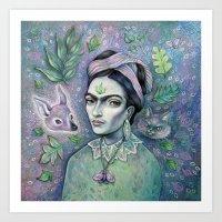 magical girl Art Prints featuring Magical Girl Frida by Brettisagirl