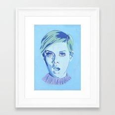 Blue Twiggy Framed Art Print