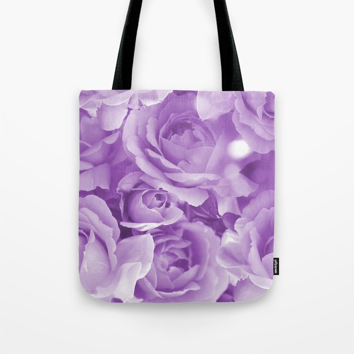 Violet Rose Bouquet For You - Valentine's Day #decor #society6 #homedecor Tote Bag