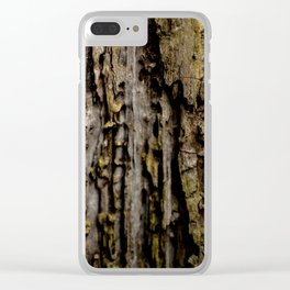 Old Wood Close up Clear iPhone Case