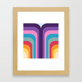 Retro Rainbow 02 Framed Art Print