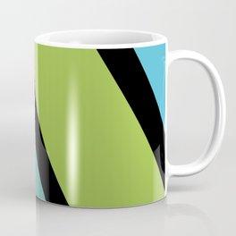 Diagonal Lines_Blue and Green Coffee Mug