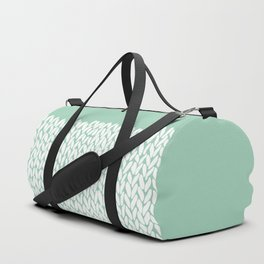 Half Knit Mint Duffle Bag