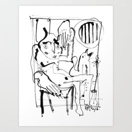 Two in a cabin Art Print