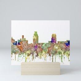 Camden, New Jersey Skyline SG - Faded Glory Mini Art Print