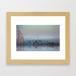 BLUE SKYLINE DUBAI Framed Art Print