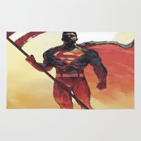 superman Area & Throw Rugs featuring Superman by Dave Seguin